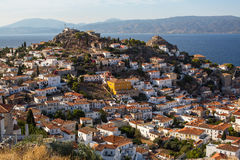 Top view of Hydra island, Greece. Travel. Royalty Free Stock Photography