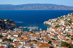 Top view of Hydra island, Greece. Travel. Royalty Free Stock Images