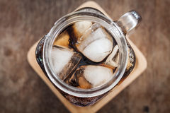 Top view of iced cola Stock Image