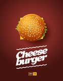 Top view illustration of cheesburger. Stock Images