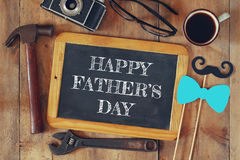 Top view image of fathers day composition Stock Images