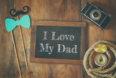Top view image of fathers day concept Royalty Free Stock Photo