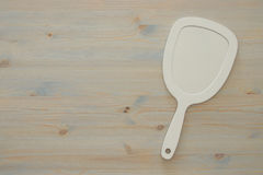Top view image of vintage hand mirror Stock Photography