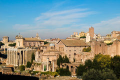 Top view of the Imperial Forums in Rome Royalty Free Stock Photos