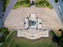 Top view of Independence Monument in Sao Paulo, Brazil Royalty Free Stock Images