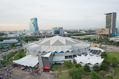 Top view of Indoor Stadium Huamark Royalty Free Stock Photo
