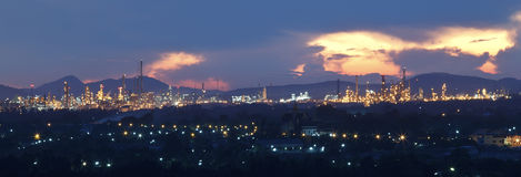 Top view of industrial estate in rayong thailand Stock Images