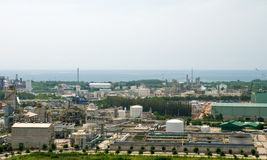 Top view of industrial estate in Thailand Royalty Free Stock Images
