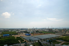 Top view of industrial estate in Thailand Royalty Free Stock Photos