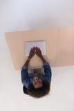 Top view of informal african american Businesswoman Stock Photo