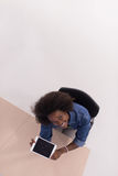 Top view of informal african american Businesswoman Royalty Free Stock Photo