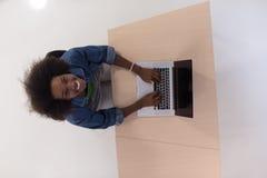 Top view of informal african american Businesswoman Stock Photos