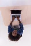 Top view of informal african american Businesswoman Stock Image