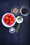 Top view Ingredients Royalty Free Stock Photos