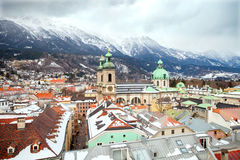Top view of Innsbruck Royalty Free Stock Photos
