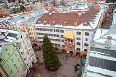 The top view of Innsbruck old town Royalty Free Stock Photos