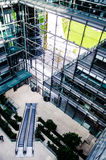 Top View inside a Building. A view from the top of a business building, Potsdamer Platz, Berlin, Germany Royalty Free Stock Photos
