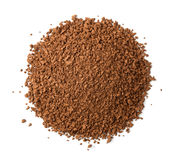 Top view of instant coffee granules Royalty Free Stock Photography