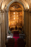 Top view interior of Catholic Church in Spain, main Cathedral in Salamanca Stock Photography
