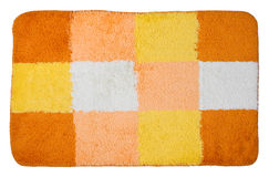 Top view of isolated colorful bath mat Royalty Free Stock Photography