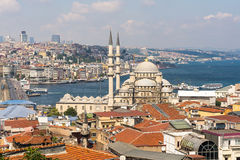 Top view of Istanbul from roofs. Turkey Stock Photo