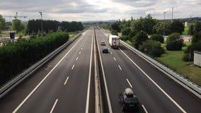 Top view of Italian highway Stock Photo