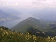 Top view of Italian lake of Como Stock Photos