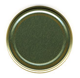 Top View of a Jar Lid. On a White Background stock images