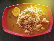 Top view of Jawa mee. royalty free stock photography