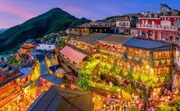 Top view of Jiufen Old Street in Taipei. Taiwan royalty free stock image