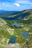Top view of Karakol lakes in Altai mountains Royalty Free Stock Photos