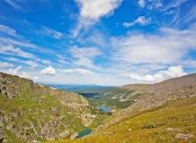 Top view of Karakol lakes in Altai mountains Stock Photo