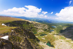 Top view of Karakol lakes in Altai Royalty Free Stock Photography
