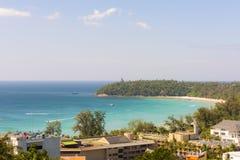Top View of Kata beach Phuket Islands Thailand Royalty Free Stock Photos