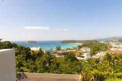 Top View of Kata beach Phuket Islands Thailand Royalty Free Stock Image