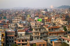 Top view of Kathmandu Stock Image