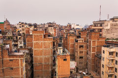 Top view of Kathmandu Royalty Free Stock Photo