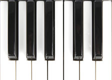 Top view of Key Piano Royalty Free Stock Photos