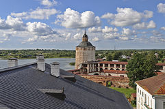 Top view of Kirillo-Belozersky monastery Stock Image