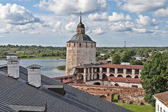 Top view of Kirillo-Belozersky monastery, Russia Stock Photography