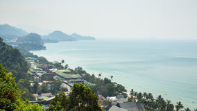 Top view of Koh Chang island Stock Photo