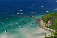 Top view at koh lan Royalty Free Stock Photo