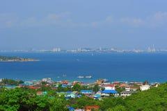 Top view at koh lan Stock Photo