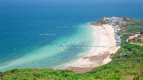 Top view of Koh Larn island samae beach in Pattaya Royalty Free Stock Photography