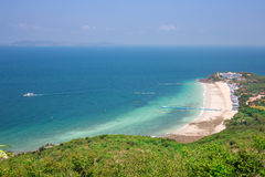 Top view of Koh Larn island samae beach in Pattaya Stock Photo