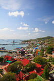 Top view of koh sichang, island Royalty Free Stock Image