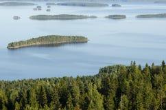 Top view, Koli National Park, Finland Royalty Free Stock Photo