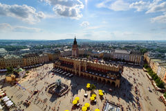 Top view of the Krakow in a sunny day. Stock Photo