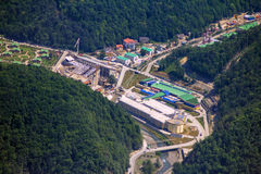 Top view of Krasnaya Polyana, Sochi, Russia. Stock Photo
