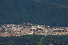 Top view of Krasnaya Polyana, Sochi, Russia. Stock Photos
